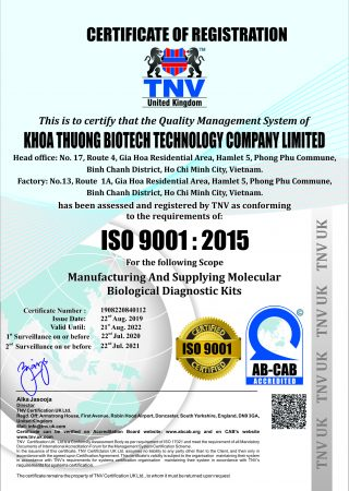 KHOA THUONG BIOTECH TECHNOLOGY COMPANY LIMITED91