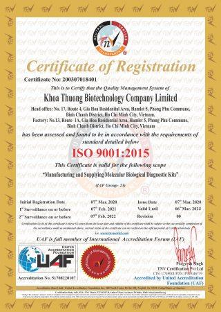 ISO 9001 -UAF